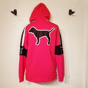 PINK Victoria's Secret 1/4 zip large dog sweatshirt hoodie Size XS